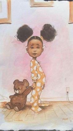 """Good Morning"" by Frank Morrison Art And Illustration, Illustrations, Black Girl Art, Art Girl, African American Art, African Art, Moda Afro, Black Art Pictures, Black Artwork"
