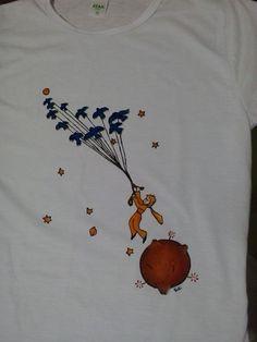 O Pequeno Príncipe   Camiseta pintada à mão