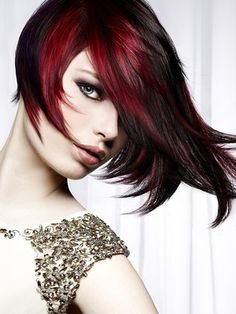 Dark Red Hair Highlights--love this!! wish i was brave enough!!