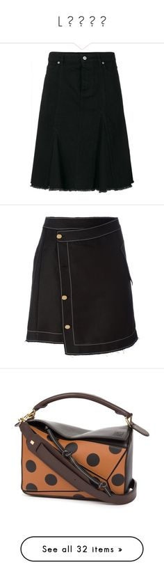 """""""L ᴏ ᴇ ᴡ ᴇ"""" by mariluz-garcia ❤ liked on Polyvore featuring skirts, black, patterned skirts, loewe, print skirt, denim patch skirt, zip skirt, bottoms, metallic skirt and embellished skirts"""