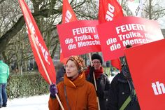 Protest gegen Spardiktate der EU und der Troika: Beim EU-Frühjahrsgipfel in Brüssel