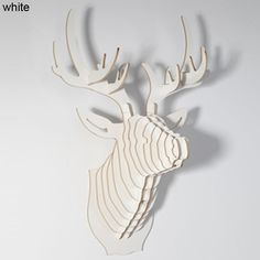 Deer head wall hanging,DIY wooden crafts,3D animal head for European style home wall decoration,wall art,wood home&garden,gifts