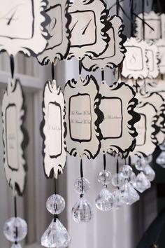 tableau de mariage per un matrimonio elegante in bianco e nero