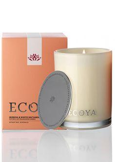 Ecoya Mimosa & White Nectarine Madison Jar Candle