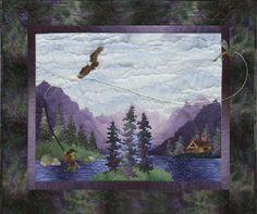 "McKenna Ryan ""Calling Me Home"" HIDDEN LAKE (Block 1) Quilt Pattern Fishing, Eagle, Quilting -- 11.50"