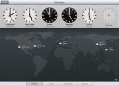 At last ... The clock app arrived with iOS 6 on the iPad
