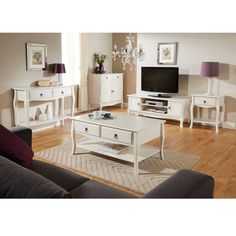 The Marianne 2 Door Tv Unit Cream has a classic and contempoary design, with 2 cupboards and shelf spaces to store DVDs or gaming equiptment. Finished with an ornate door handle and curved legs, this stylish TV unit will fit perfectly with any decor around your home and will keep your house looking neat and tidy Product Features Part of the Marianne Collection Compartment space Height: 8cm Width: 25cm Depth: 40cm Shelf Height: 13cm Width: 58cm Depth: 42cm Assembly required, fittings…