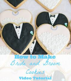 How to Make Bride and Groom Sugar Cookies for your wedding or wedding shower favors                                                                                                                                            ...