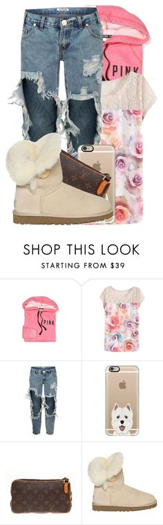 """""""."""" by niyah682 ❤ liked on Polyvore featuring Victoria's Secret, One Teaspoon, Casetify, Louis Vuitton and UGG Australia"""