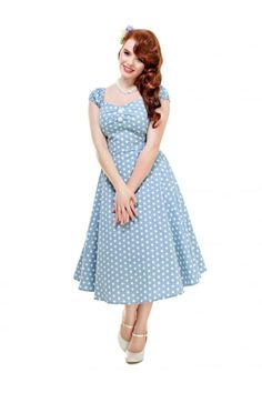 Collectif Vintage Dolores Vintage Polka Dot Doll Dress