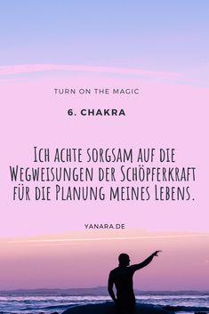 Ich achte sorgsam auf die Wegweisungen der Schöpferkraft für die Planung meines Lebens. #affirmation #6.chakra #walterlübeck #quote #bewusstsein #achtsamkeit 6 Chakra, Tantra, Yoga, Stress Relief, Chakras, Consciousness, Self Love, Mindfulness, Spiritual