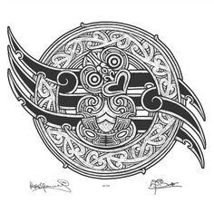 Image Vault Ltd is a distributor and publisher of fine-art prints, bespoke lampshades and wall decals. Polynesian Designs, Polynesian Art, Maori Tattoo Designs, Henna Designs, Tiki Tattoo, Maori Patterns, Tiki Art, New Zealand Art, Nz Art