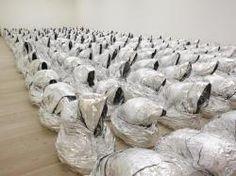 Kader Attia Ghost (2007) aluminium foil