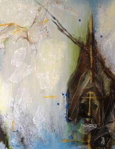 Bats by RG Pettit. Acrylic, mixed media