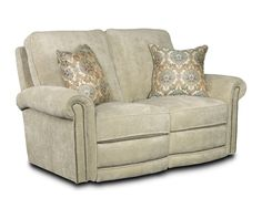 Enjoy the customizable Jasmine Reclining Loveseat with a friend or family member.