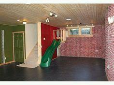 Indoor slide for the playroom entrance