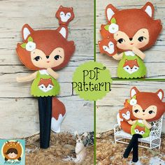 Fox Girl Felt Doll Pattern $7
