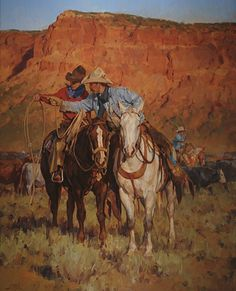 """The Mentor"" by Jason Rich (Cowboy Artist)"