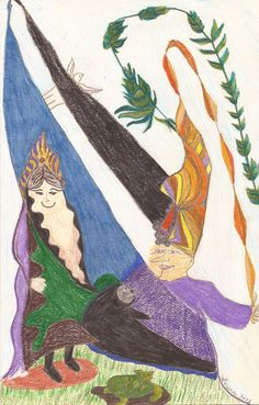 Magician's Wife greeting card