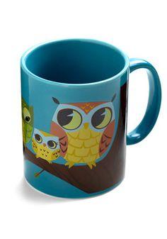 Know It Owl Mug in Cream | Mod Retro Vintage Kitchen | ModCloth.com