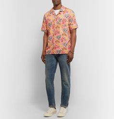 Todd Snyder + Liberty London Camp-collar Floral-print Cotton-poplin Shirt In Pink Floral Print Fabric, Floral Prints, Fashion Advice, Fashion News, Todd Snyder, Mother Of Pearl Buttons, Collar Shirts, Poplin, Printed Cotton