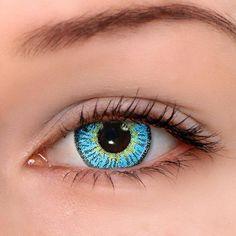 7c66828629b TTDeye Elf Blue Colored Contact Lenses Blue Contacts