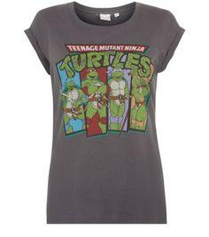 Grey Teenage Mutant Ninja Turtles T-Shirt