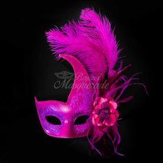 Sea Unicorn Mardi Gras Venetian Masquerade Mask for Women M7240 Purple Gold