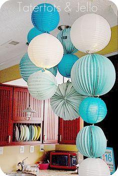 Fun paper lantern mobile.