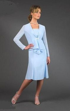 Ursula Petite Knee Length Mother of the Bride Jacket Dress 23801 at frenchnovelty.com