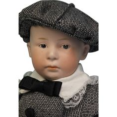 """17"""" German Bisque Pouting Character with Intaglio Eyes, Model 6894"""