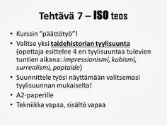 KU 1 - Minä, kuva ja kulttuuri: October 2013 Teaching Art, Art History