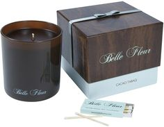 Belle Fleur Scented Candle-Cacao Tabaq-7.5 oz.