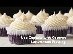 Ube Cupcakes with Coconut Buttercream Frosting Recipe | Yummy Ph - YouTube