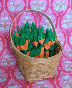 Easter Carrot Napkins how to