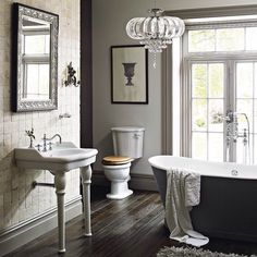 The Heritage 'New Victoria' collection offers a range of pedestals and fittings to suit your design. #bathrooms
