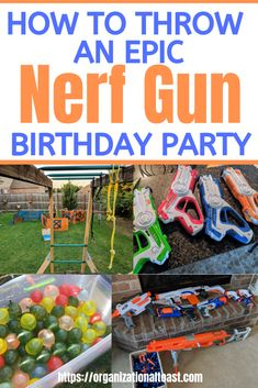 Check out our nerf gun birthday for our 8 year old boy! Includes a nerf war course plus lots of other activities for this fun summer birthday party! - Nerf Gun - Ideas of Nerf Gun 4 Year Old Boy Birthday, Nerf Birthday Party, 8 Year Old Boy, Birthday Themes For Boys, 13th Birthday Parties, Summer Birthday, Birthday Ideas, Nerf Party Food, Happy Birthday