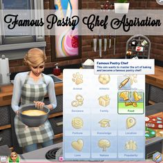 The Sims 4 Famous Pastry Chef Aspiration by xbrettface