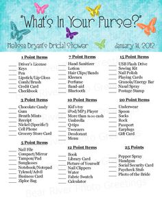 Bridal Shower Game Printable  What's In Your by PhotoGreetings, $8.50