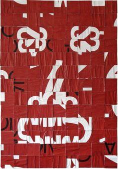 Fabio Zanino . 2009 — advertising poster de-construction sculpture — 130×90 cm (private collection)