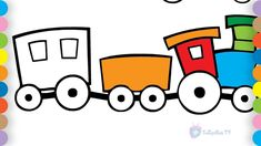 Toddlers coloring pages - How to draw Train - Train coloring book for Kids Toddler Drawing, Drawing For Kids, Coloring Pages For Kids, Coloring Books, Kids Coloring, Mazes For Kids Printable, Children's Medicine, Colors For Toddlers, Train Drawing