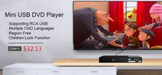 Mini USB RCA DVD Player Multiple OSD Languages DIVX MPEG4 DVD CD RW Player LED Display Player DVD MP3