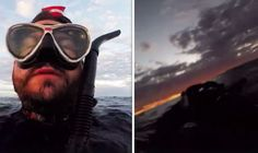 Diver's heartbreaking video of 'last moments' before dramatic sea rescue