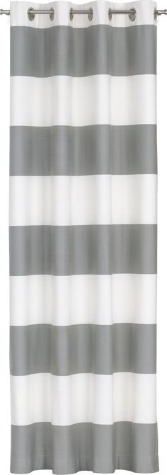 If only they weren't grommet top: Alston Ivory/Grey Curtain Panel in Curtains | Crate and Barrel