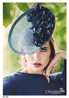 Adore this Hydrangea Adorned Fascinator ~ Millinery Hats, Fascinator Hats, Fascinators, Headpieces, Sinamay Hats, Turbans, Crazy Hats, Mode Blog, Races Fashion