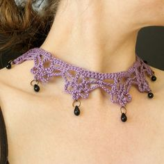 Free Crochet Jewelry Pattern | Keeping with the vampire theme .. look what I discovered yesterday ...