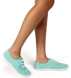 Mint Canvas Sneakers