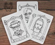 BREAKING BAD - Portrait estampes - Portrait personnalisé - Walter White - Heisenberg - Jesse Pinkman - cadeaux pour les hommes - plume et en...