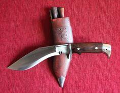 American Eagle Gurkha Khukuri Kukri Kukrri Knife Full Tang Wood Handle 8 inch