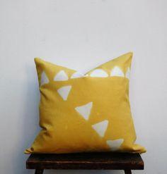Mustard Yellow Boho Pillow, Bohemian Pillow,  Pillow Cover, Hand Designed Pillow Cover,